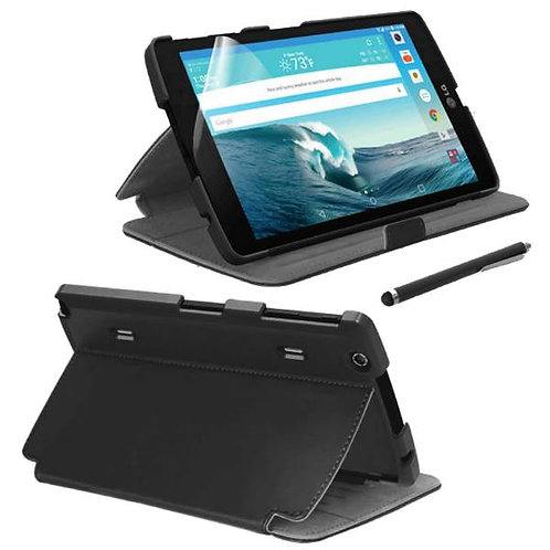LG G Pad X8.3 Rome Tech OEM Folio Case & Stylus Bundle - Black