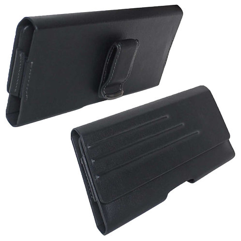 Rome Tech OEM Universal Vegan Leather Pouch for Large Devices - Black