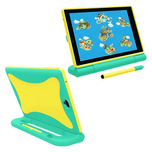 Verizon GizmoTab Rome Tech OEM Kids Case w/Stylus - Yellow / Green