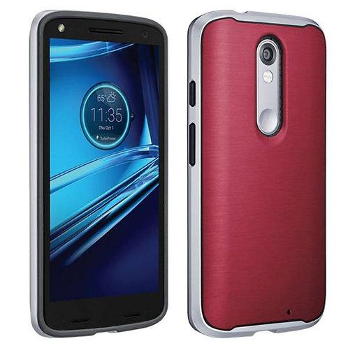 Motorola Droid Turbo 2 Rome Tech OEM Soft TPU Bumper Case - Marsala Red