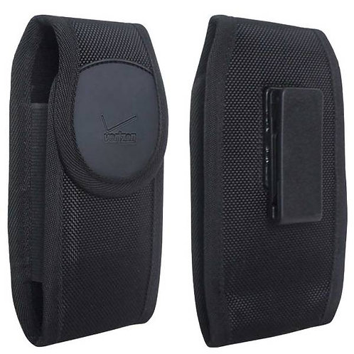"""Verizon OEM Rugged Nylon Pouch for Large Phones Up to 5.5"""" Screen - Black"""
