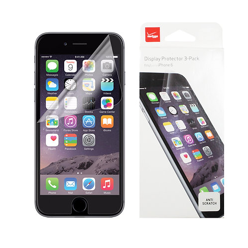 Apple iPhone 6 / iPhone 6s Verizon OEM Screen Protector Kit - Clear - 3-Pack