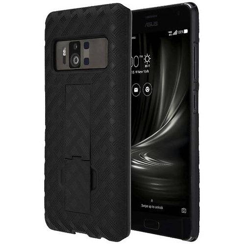 ASUS Zenfone AR Rome Tech OEM Shell Holster Combo Case - Black