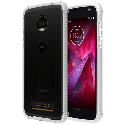 Motorola Moto Z2 Force Rome Tech OEM Two-Tone Bumper Case Cover - Clear / White