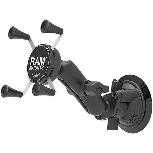 RAM Mounts RAM Twist Lock Suction Cup Mount with Universal X-Grip Cell