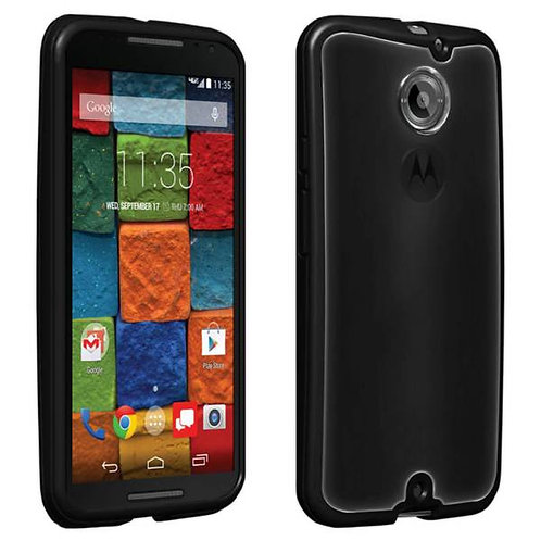 Motorola Moto X (2nd Gen) Rome Tech OEM Clear Shell TPU Bumper Case - Black