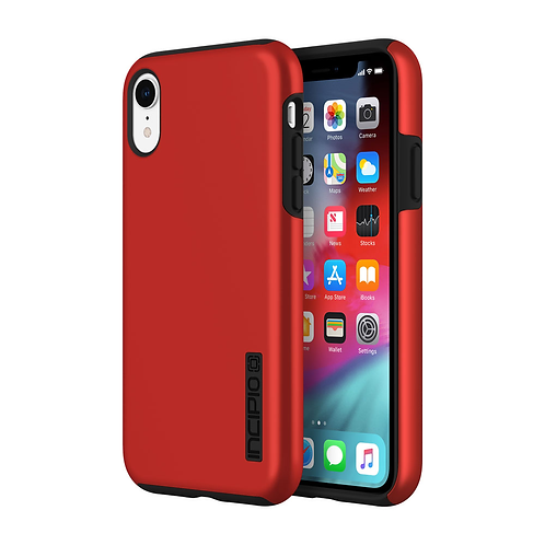 Incipio DualPro Case for Apple iPhone XR - Iridescent Red and Black