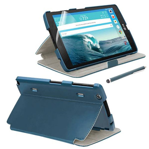 LG G Pad X8.3 Rome Tech OEM Folio Case/Screen/Stylus Bundle - Blue