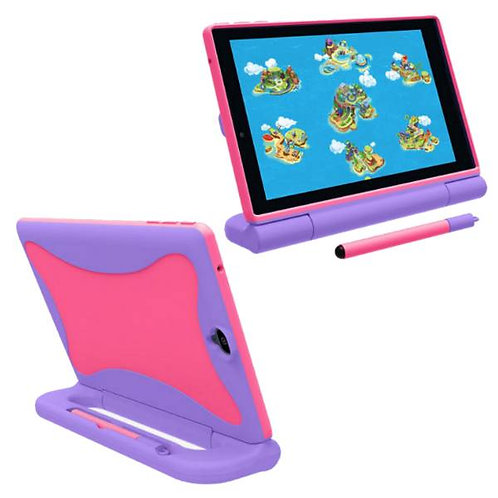 Verizon GizmoTab Rome Tech OEM Kids Case w/Stylus - Pink / Purple