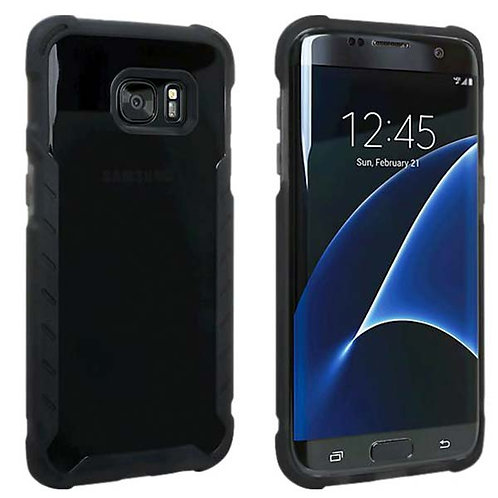 Samsung Galaxy S7 Edge Rome Tech OEM Matte Silicone Case Cover - Black