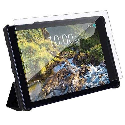 Verizon Ellipsis 8 HD Rome Tech OEM Folio Case & Tempered Glass Bundle - Black