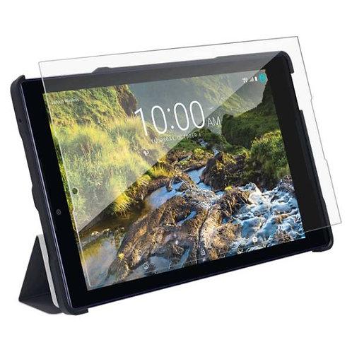 Verizon Ellipsis 8 HD Rome Tech OEM Folio Case & Tempered Glass - Dark Blue