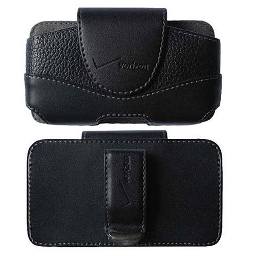 Verizon OEM Universal Leather Side Pouch for Medium Sized Phones - Black