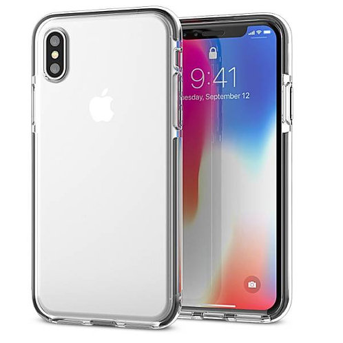 Apple iPhone X Rome Tech OEM Clear Protective Case - Clear / Black