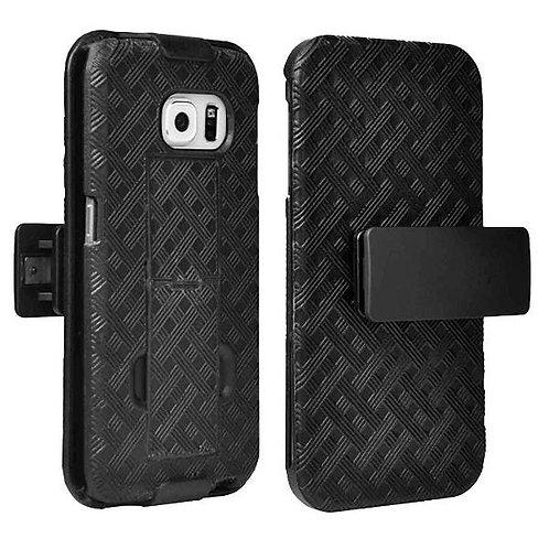 Samsung Galaxy S6 edge Rome Tech OEM Shell Holster Combo Case - Black