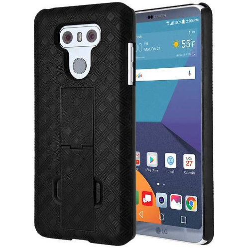 LG G6 Rome Tech OEM Shell Holster Combo Case - Black