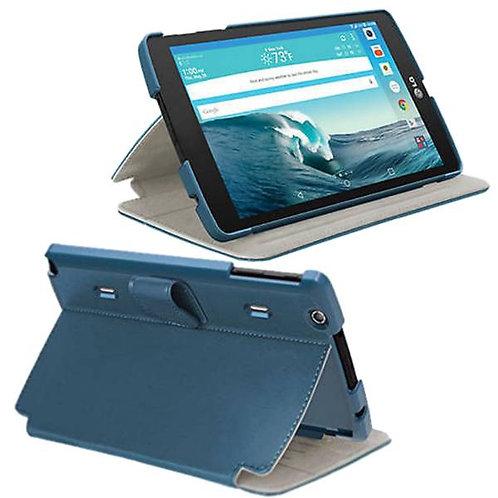 LG G Pad X8.3 Rome Tech OEM Folio Case w/Clip - Blue