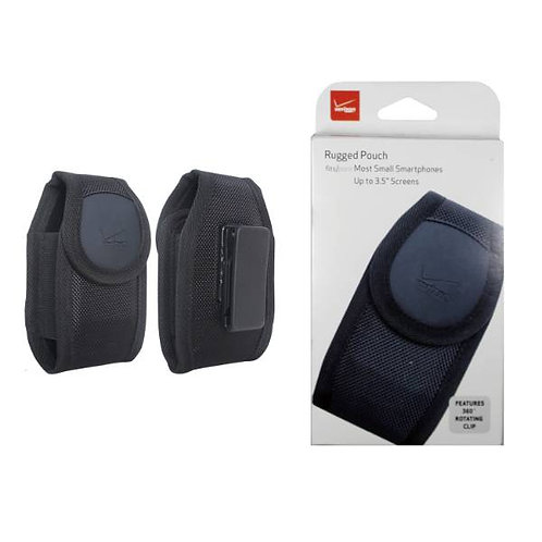 """Verizon OEM Rugged Nylon Pouch for Small Smartphones up to 3.5"""" Screen - Black"""