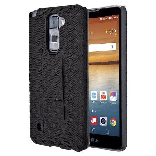 LG Stylo 2 / Stylo 2 V / Stylo 2+ Rome Tech OEM Shell Holster Combo Case - Black