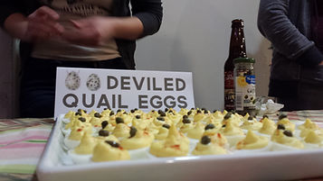 Deviled Quail Eggs, Small Foods Party