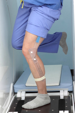 Weight bearing knee scan, set angle