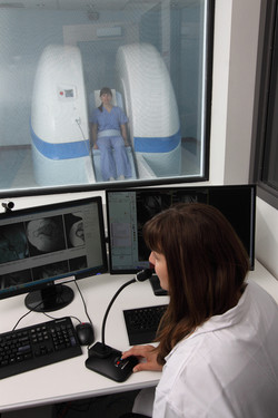 MRI technologist in control room