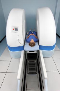 Supine knee scan