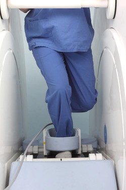 Standing ankle scan in deep flexion