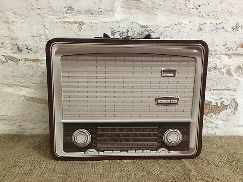 Retro Radio Tin Box