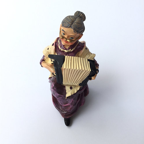 Old Lady Playing Accordion