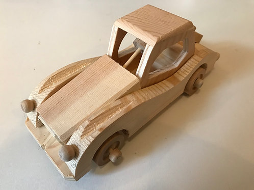 Handmade Wooden Retro Car