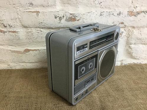 Retro Radio Tin Box