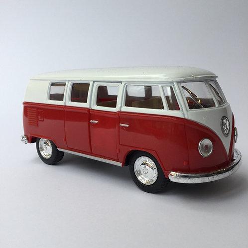 VW Red Scale Model Minibus Van