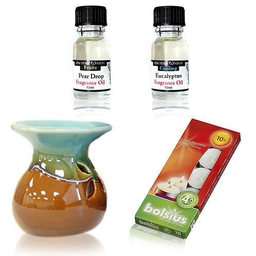 Oil Burner Set with Eucalyptus & Pear