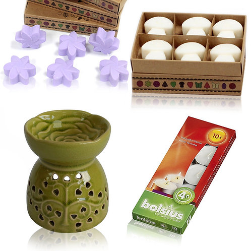 Oil Burner and Wax Melts Gift Set