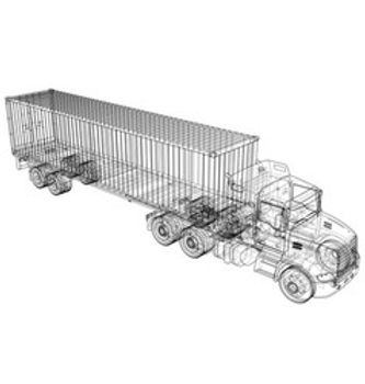 logistic-container-truck-vector-22398317