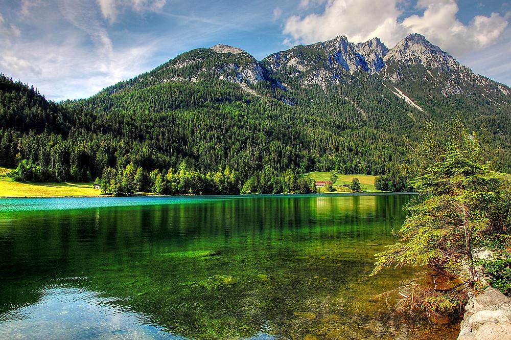 Горное озеро Австрия