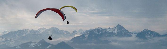 Параплан в Альпах, параплан с тренером