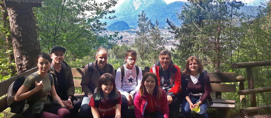 Турпоход в Альпах, Тироль, Австрия