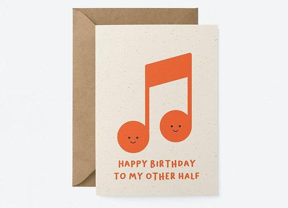 Other half birthday card