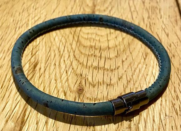 Dark Turquoise & Black Vegan Bracelet