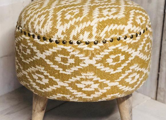 Mandir Upholstered Indian Footstool