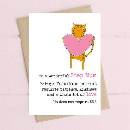 Wonderful Step Mum Greeting Card