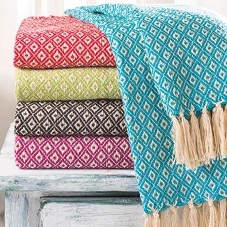 Diamond Weave Cotton Handloom Throw