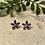 Thumbnail: Amethyst flower silver stud earrings
