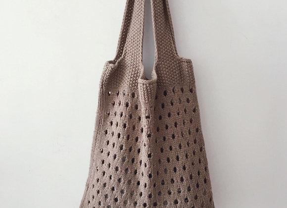 Lightweight Knit Shopper Bag (mocha)