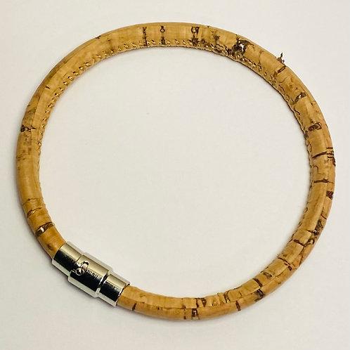 Natural Cork & Gold Vegan Bracelet