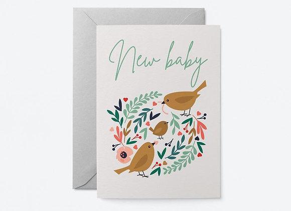 Bird new baby card