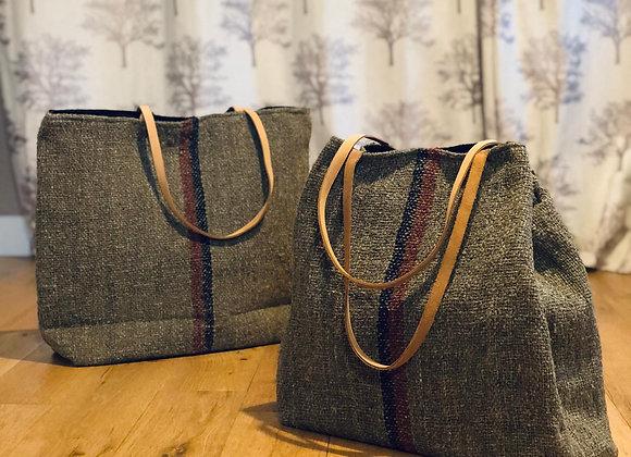 Olive Cotton Khadi Shoulder Bag