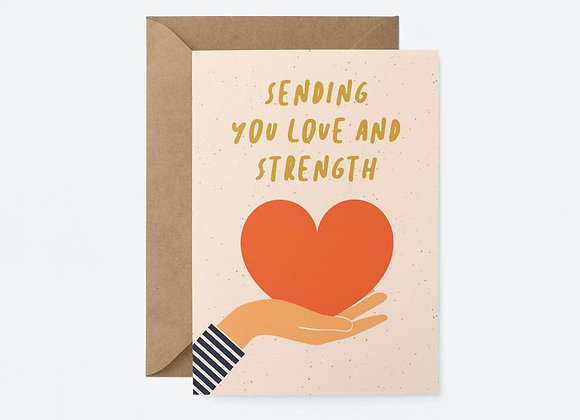 Sending love & strength card